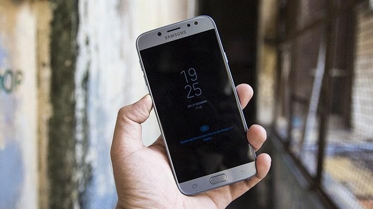 Tính năng cảm ứng vân tay Samsung J7 Pro rất tiện lợi