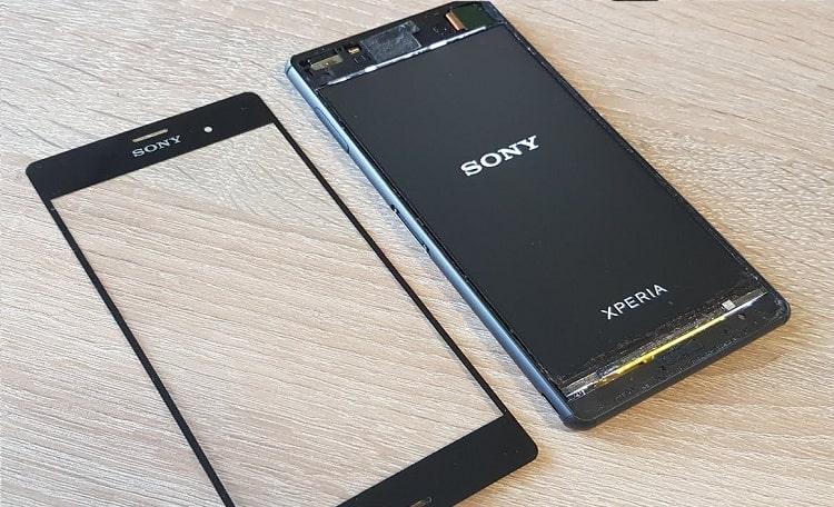 Thay kính cảm ứng đối với màn hình sony z3 bị vở kính