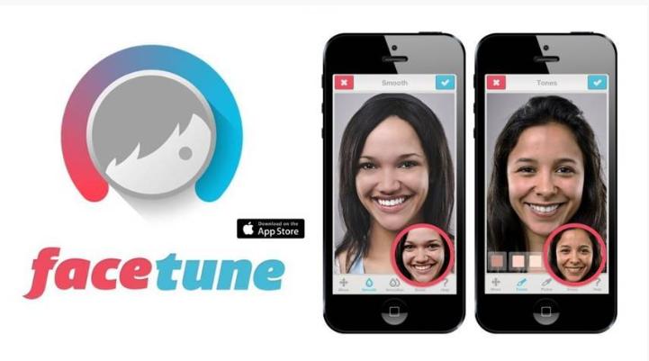 ứng dụng chụp ảnh FaceTune trên iphone