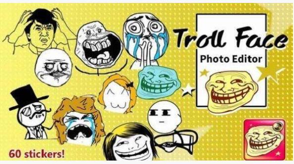 Ứng dụng Trollface Photo Editor Pro chế ảnh trên iphone