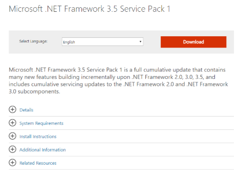 cài đặt .NET Framework 3.5 để fastboot xiaomi