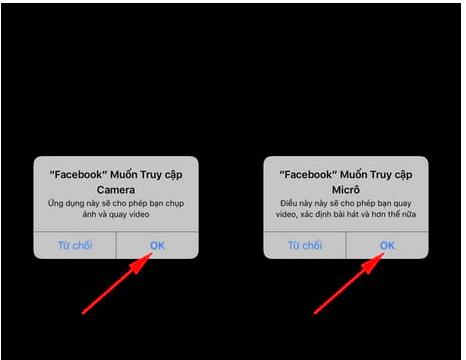 Cho phép Facebook Messenger truy cập camera và micro