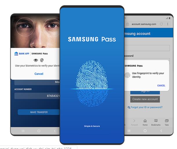 Samsung Pass không khả dụng