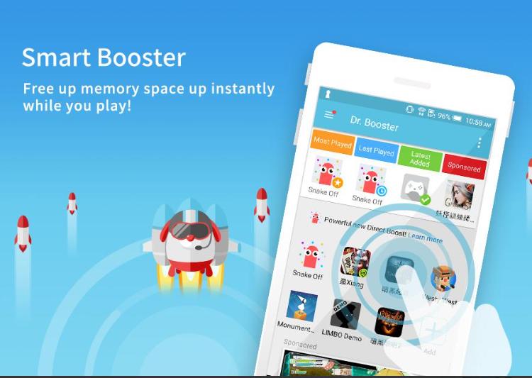 phần mềm tăng tốc độ game Dr. Booster