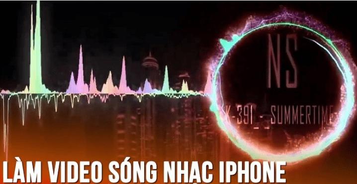Cách làm video sóng nhạc trên điện thoại iPhone