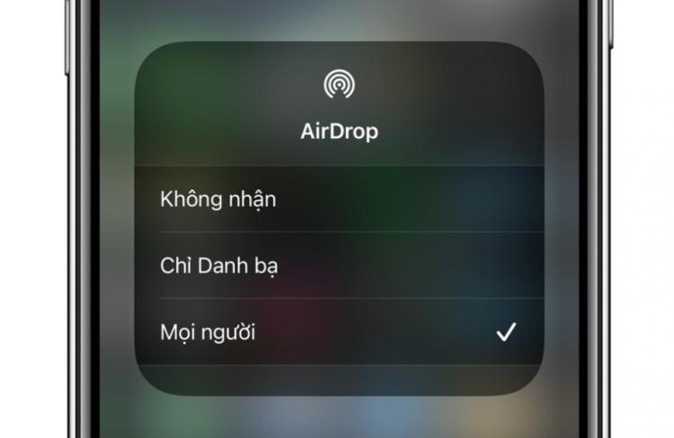 iPhone không nhận được Airdrop