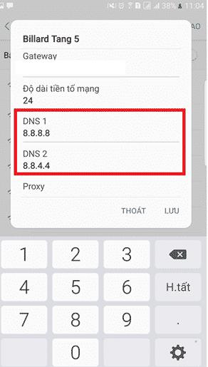 Thay đổi DNS