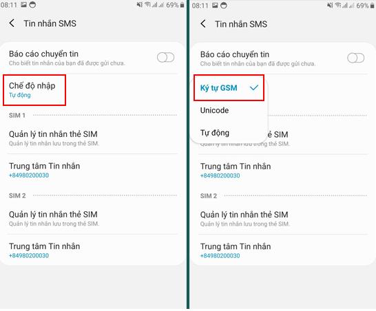tin nhắn SMS chuyển thành MMS trên Samsung
