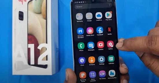 Các ứng dụng đã được khóa trên Samsung A12