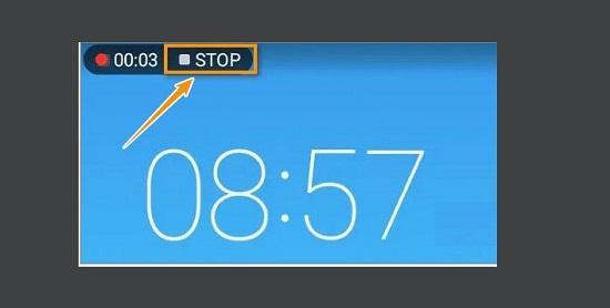 Nhấn vào nút Stop để kết thúc