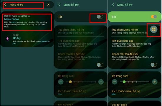Cách khóa màn hình bằng menu hỗ trợ