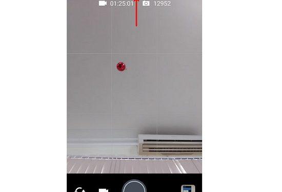 Nhấn chọn vào biểu tượng mở rộng trên giao diện máy ảnh