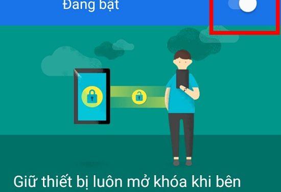Tắt smart lock