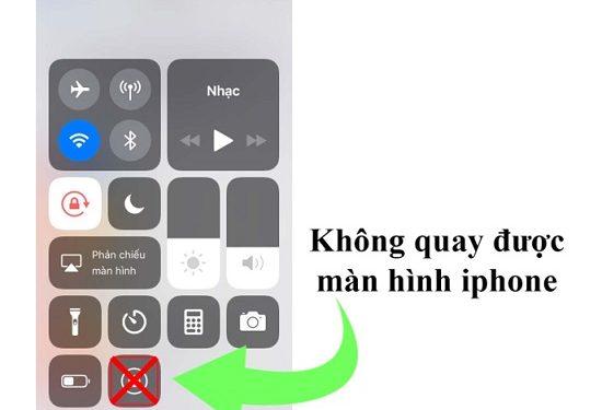 Nguyên nhân không quay được màn hình iPhone
