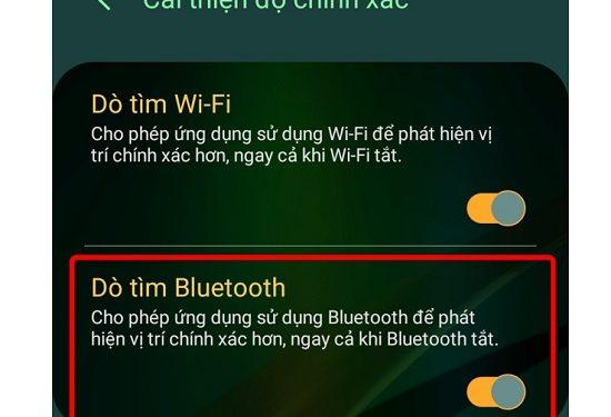 Tắt tính năng dò tìm bluetooth trên điện thoại