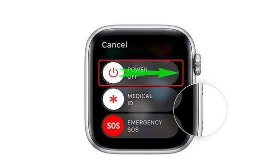 Khởi động lại Apple Watch